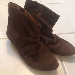 Chocolate brown slouchy boots